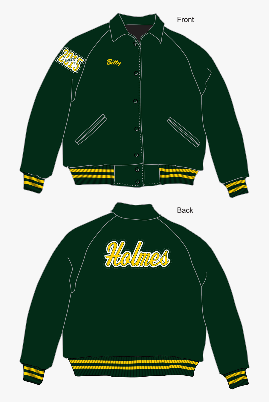 Holmes High School Letter Jacket - Sweater, Transparent Clipart