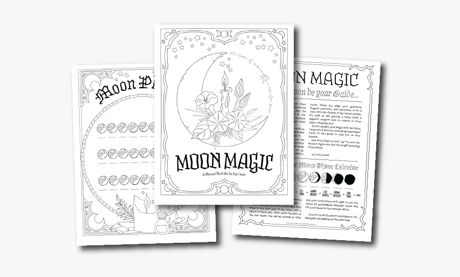 Clip Art Planner For A Magical - Coloring Book Of Shadows Planner For A Magical 2019, Transparent Clipart