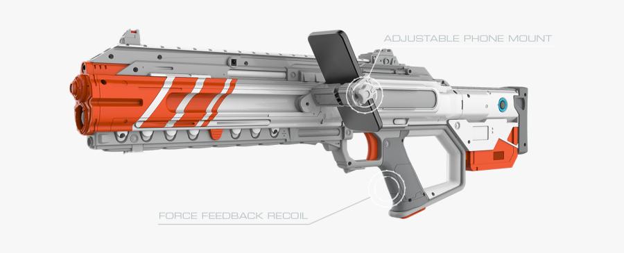 Laser Tag Gun Clip Art - Sr 12 Rogue Recoil Weapon, Transparent Clipart