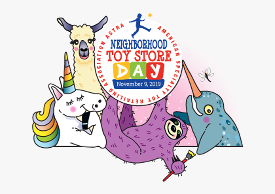 Neighborhood Toy Store Day, Transparent Clipart