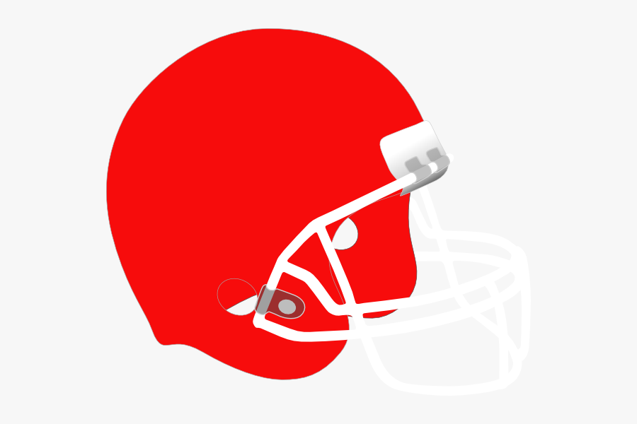 Clip Art White At Clker Com - Red And White Football Helmet, Transparent Clipart