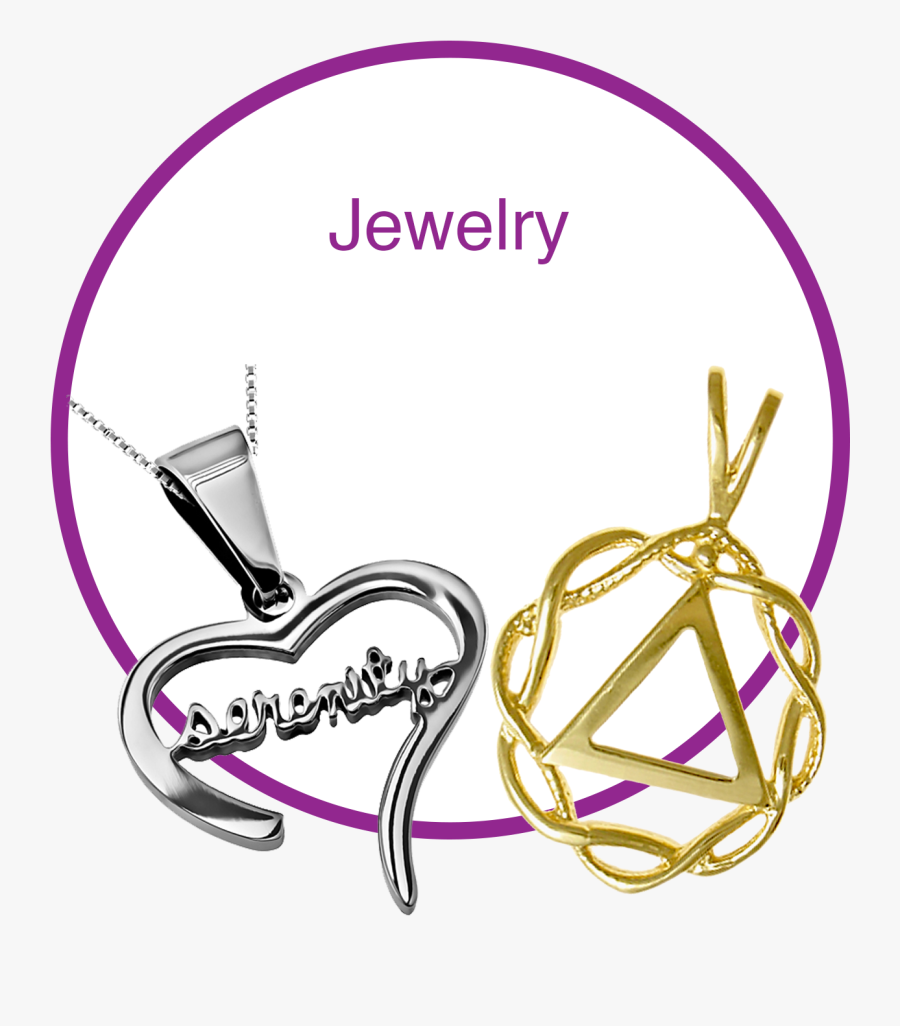 Clip Art Alcoholics Anonymous Jewelry - Circle, Transparent Clipart