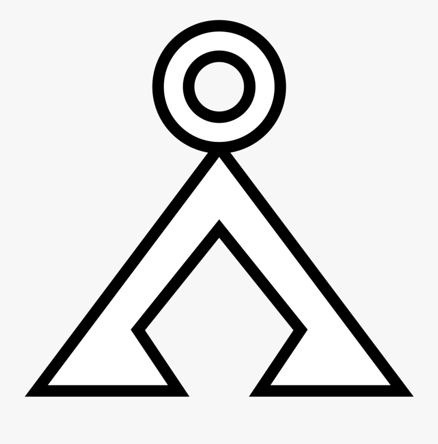 Circle And Triangle Symbol - Triangle Circle On Top, Transparent Clipart