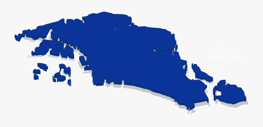 Map New - Blue Singapore Map, Transparent Clipart