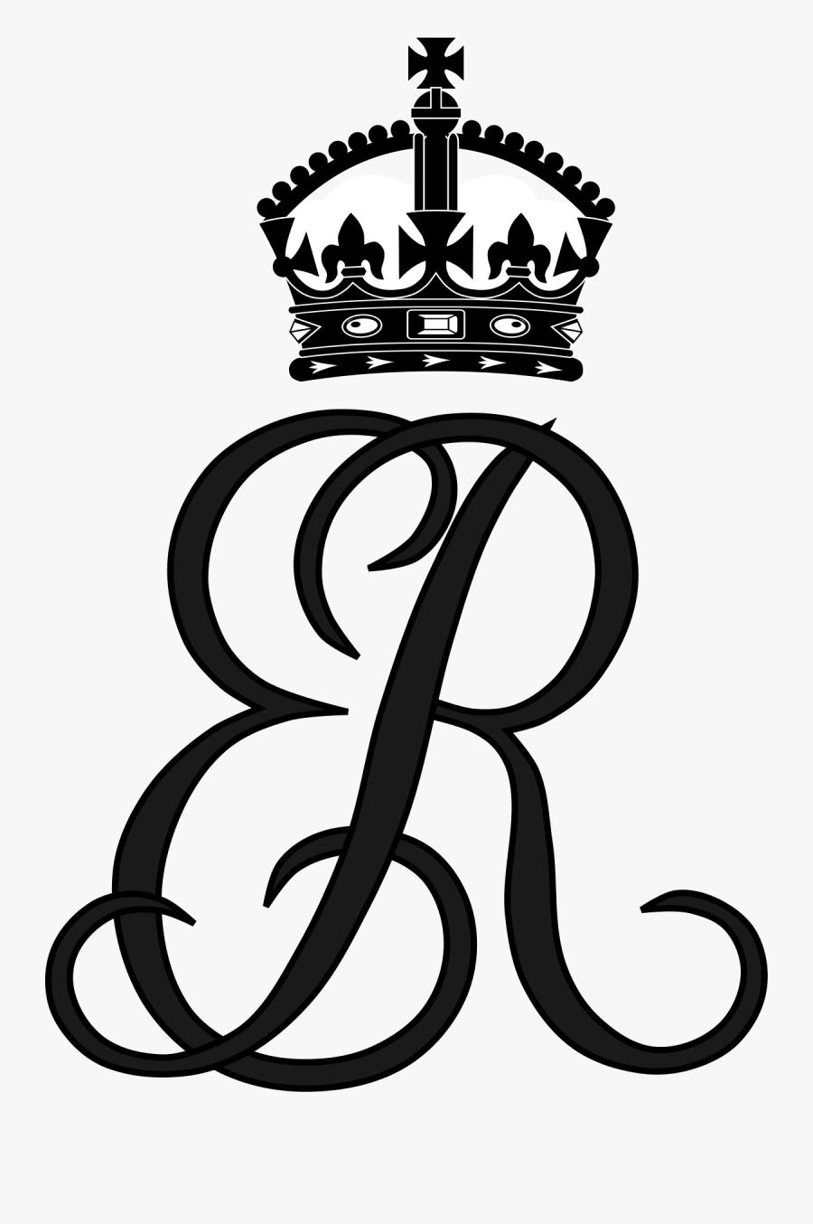 Royal Monogram Of Queen Elizabeth The Queen Mother, - British Royal Family Monograms, Transparent Clipart