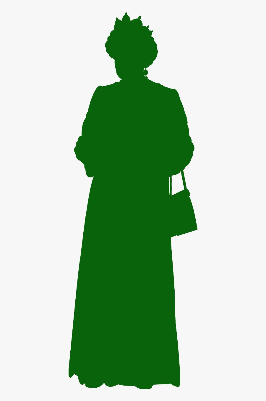 Queen Elizabeth Silhouette, Transparent Clipart