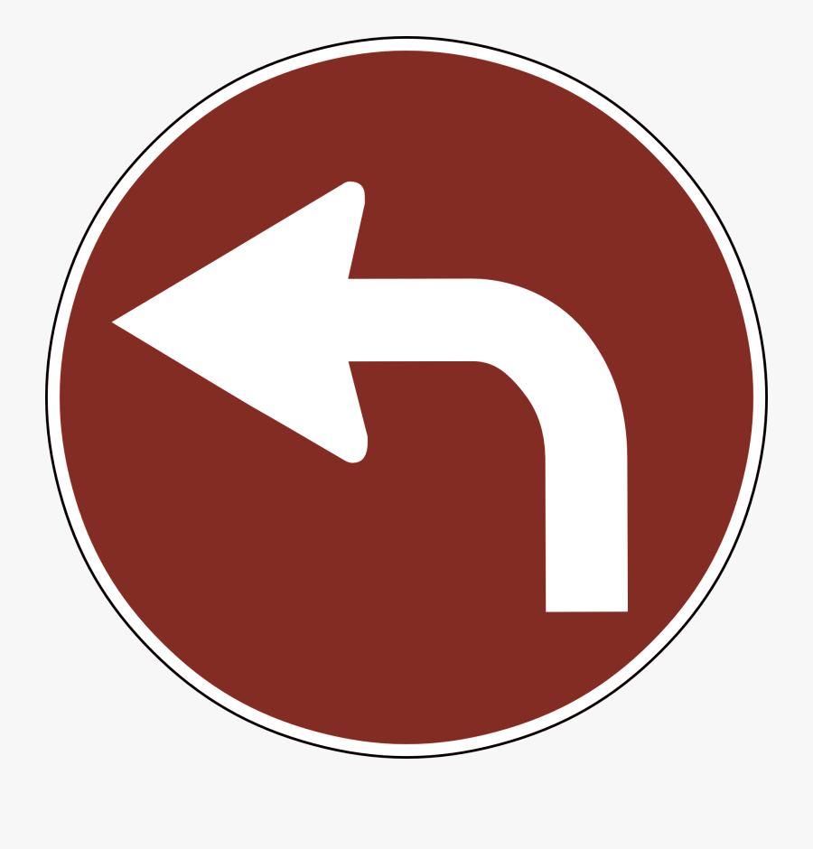Red Traffic Signs Arrow, Transparent Clipart