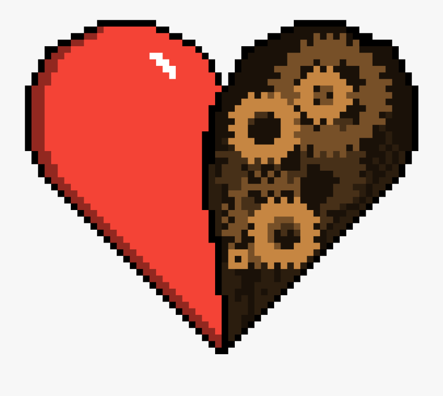 Real Heart Png - Pixel Art Deadpool X Force, Transparent Clipart