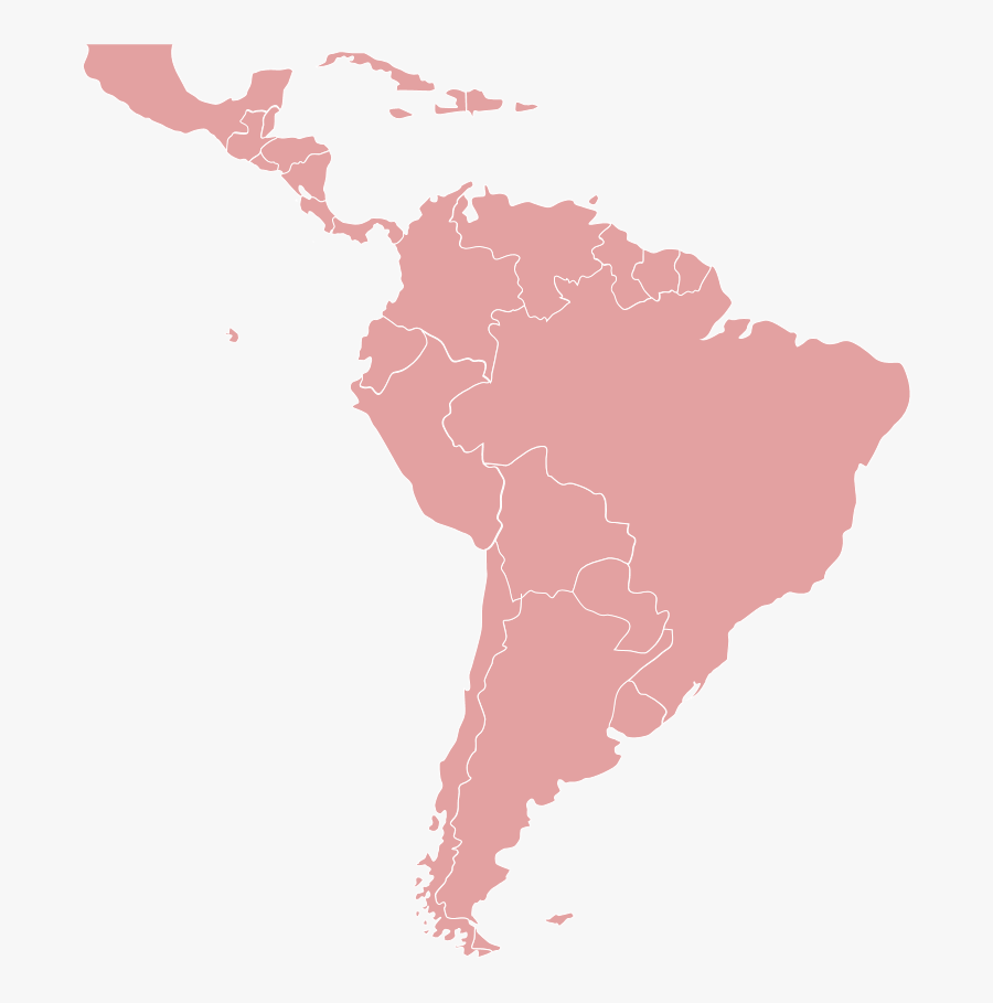 Latin America Map Png - South America Called Latin America, Transparent Clipart
