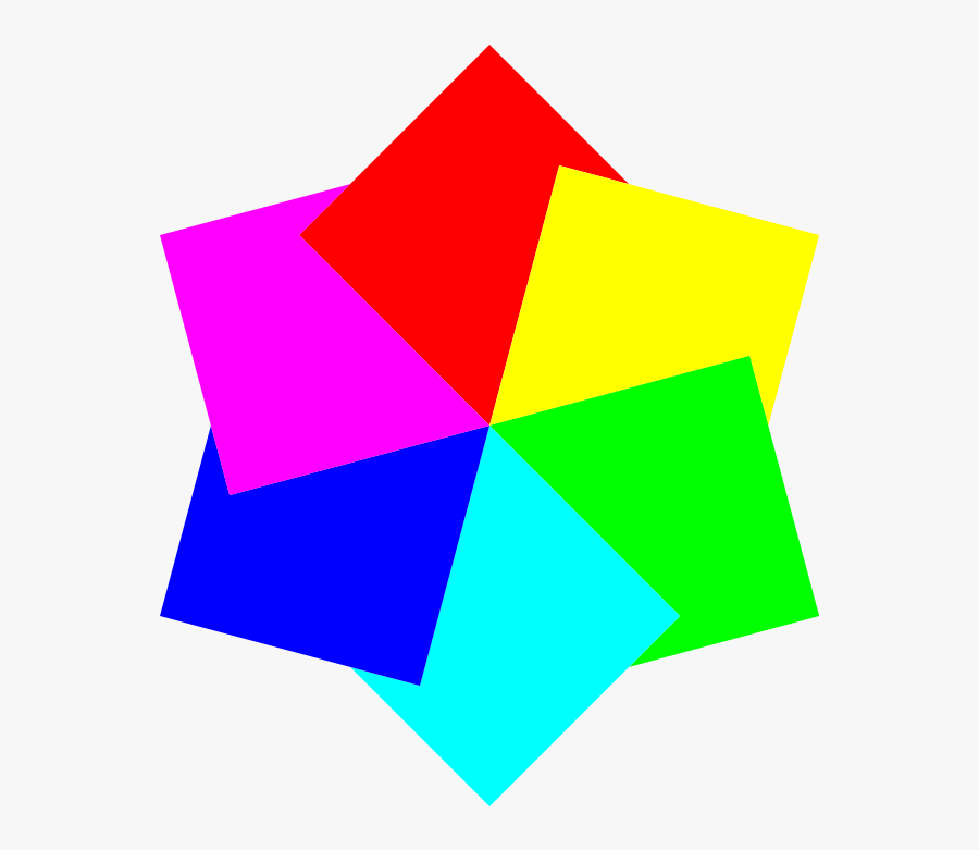 6 Squares Hexagram - Clipart Squares, Transparent Clipart