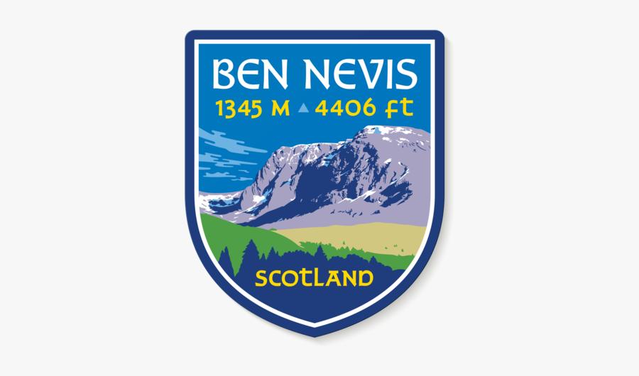 Ben Nevis Scotland Uk Mountain Travel Decal Sticker - Poster, Transparent Clipart