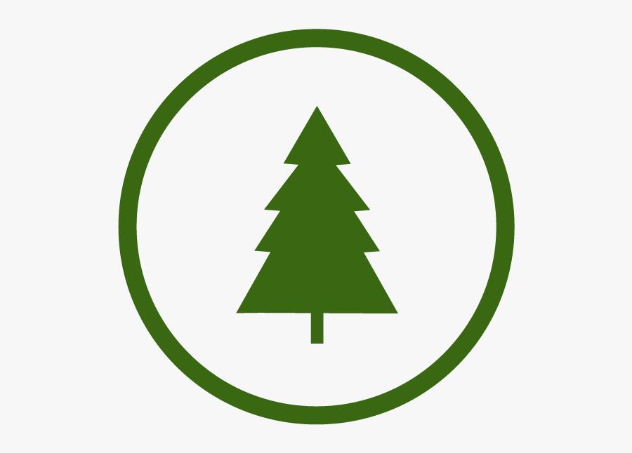 Pine Tree Silhouette Simple - Silhouette Christmas Tree Svg Free, Transparent Clipart