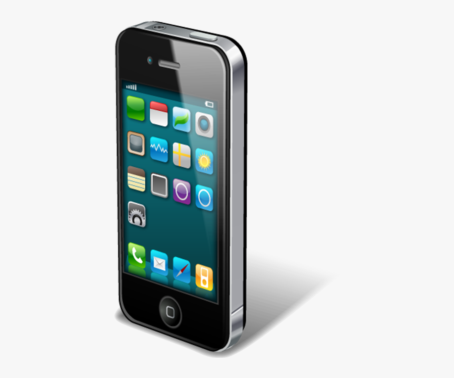 Iphone 4 Iphone 5s Icon - Mobile Smartphone Image Png, Transparent Clipart