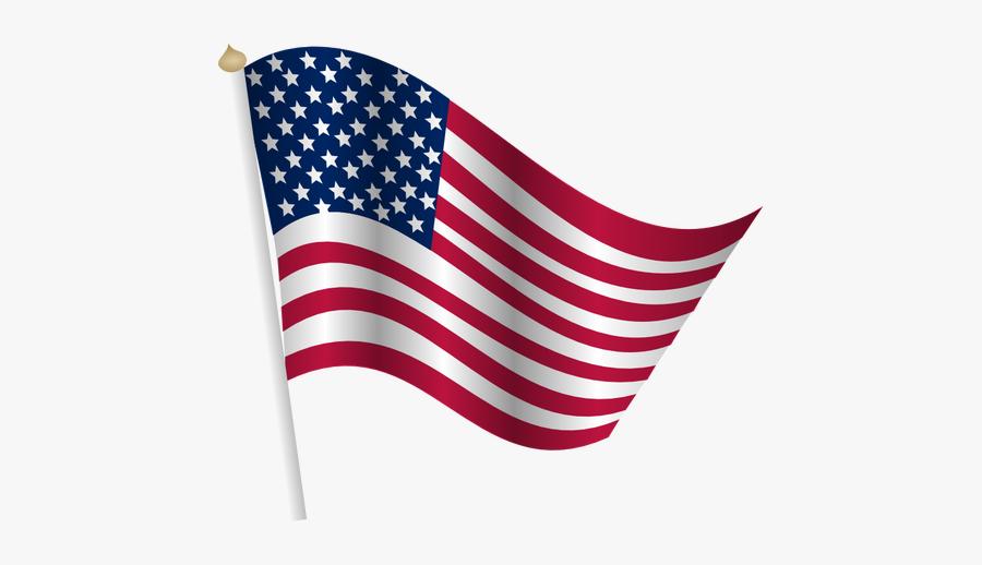 American Flag Waving - Transparent American Flag Clip Art, Transparent Clipart