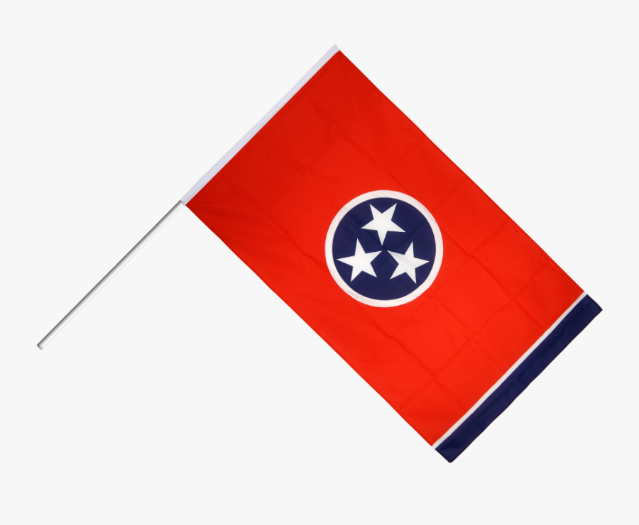 Hand Waving Usa Flag And - Tennessee State Flag, Transparent Clipart