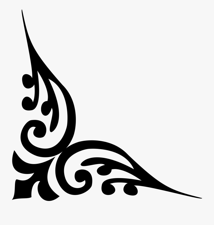 Corner Clipart Calligraphy - Alpana Designs For Corner Png, Transparent Clipart