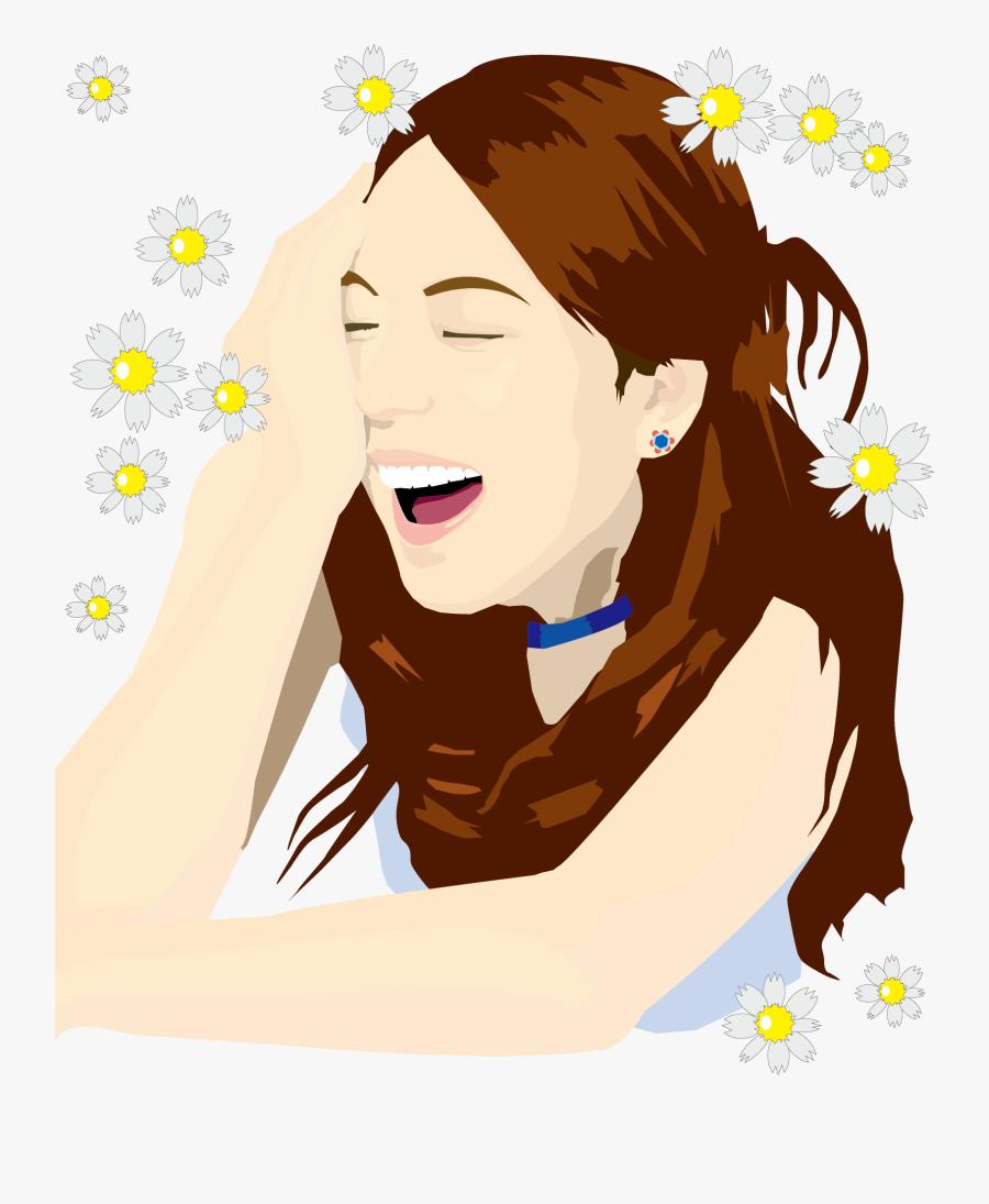 Face Smile Woman Clip - Smile Cartoon Girl Face, Transparent Clipart
