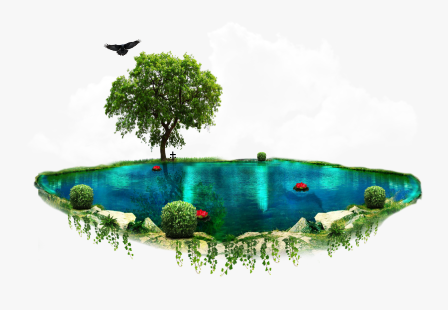 Green Mountains Clipart Download - Flying Island Png Images Hd, Transparent Clipart