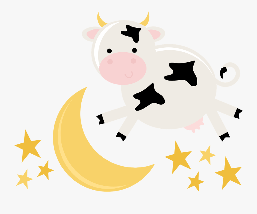 Cow Jumped Over The Moon Png, Transparent Clipart