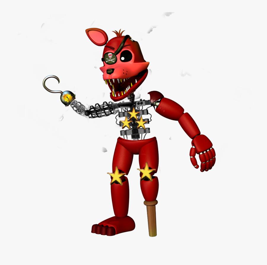 Freddy Fazbear Foxy , Transparent Cartoons - Fnaf 2 Rockstar Foxy, Transparent Clipart