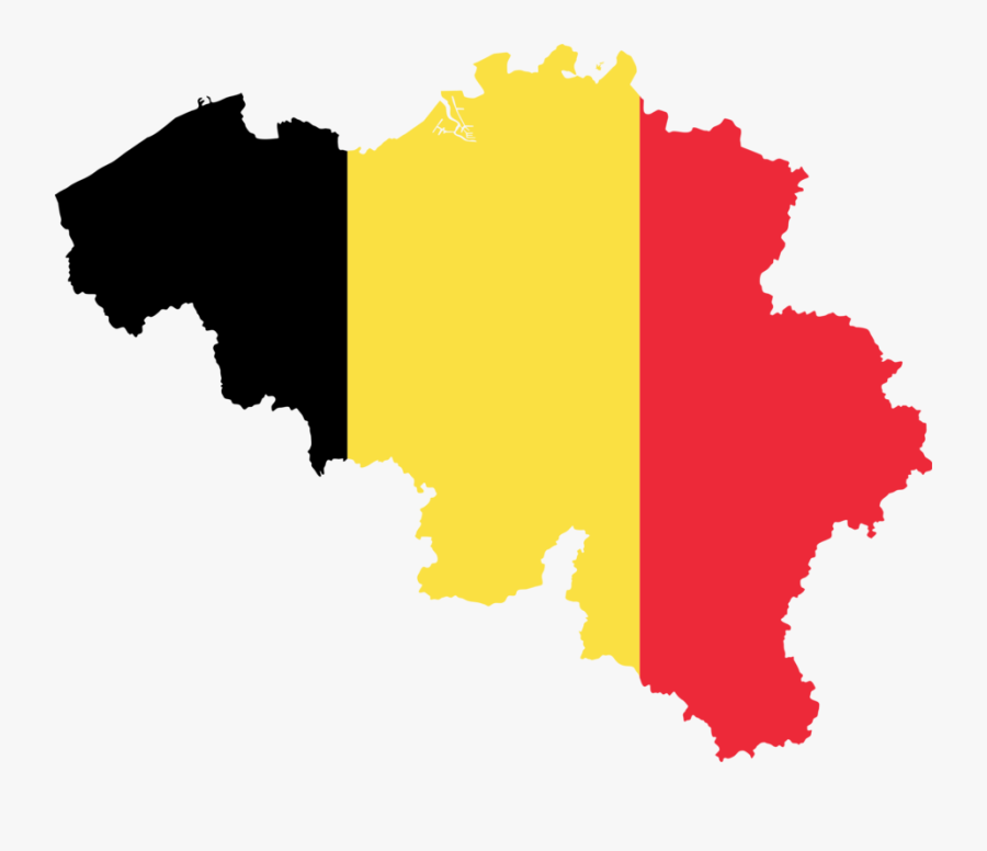 Silhouette,tree,yellow - Belgium Flag And Map, Transparent Clipart