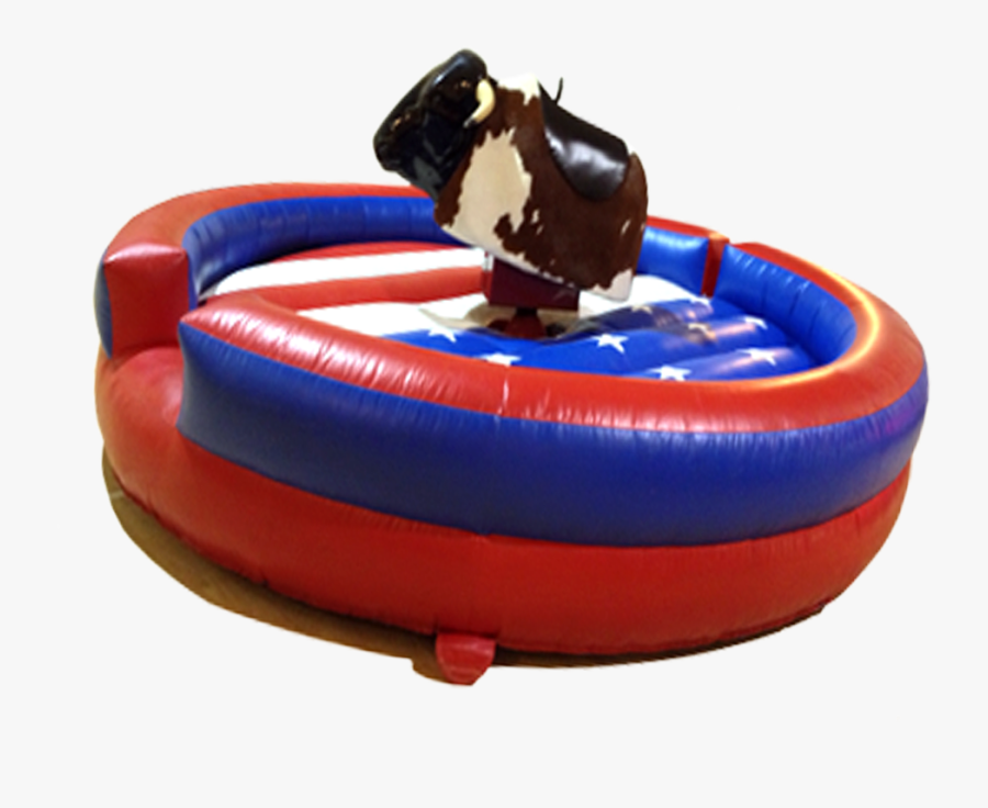 Inflatable Rodeo Bull Ride, Transparent Clipart