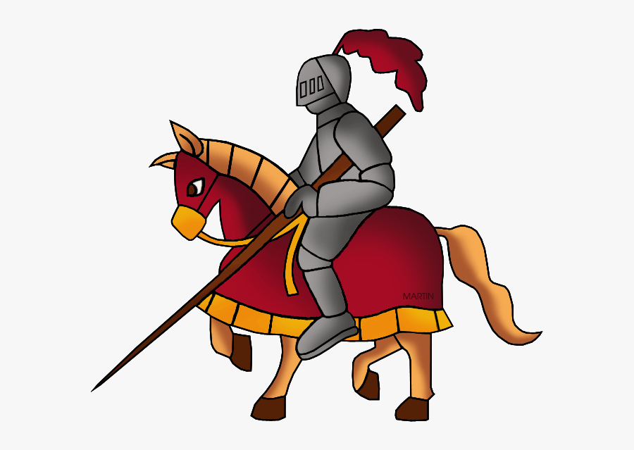 Jousting - Middle Age Social Studies, Transparent Clipart