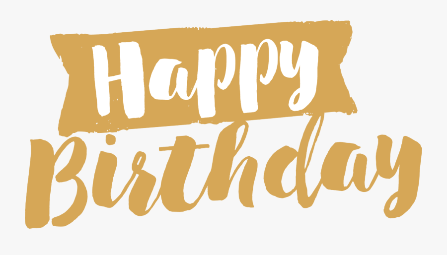 Pin By Pngsector On Happy Birthday Transparent Png - Happy Birthday Gold Png, Transparent Clipart