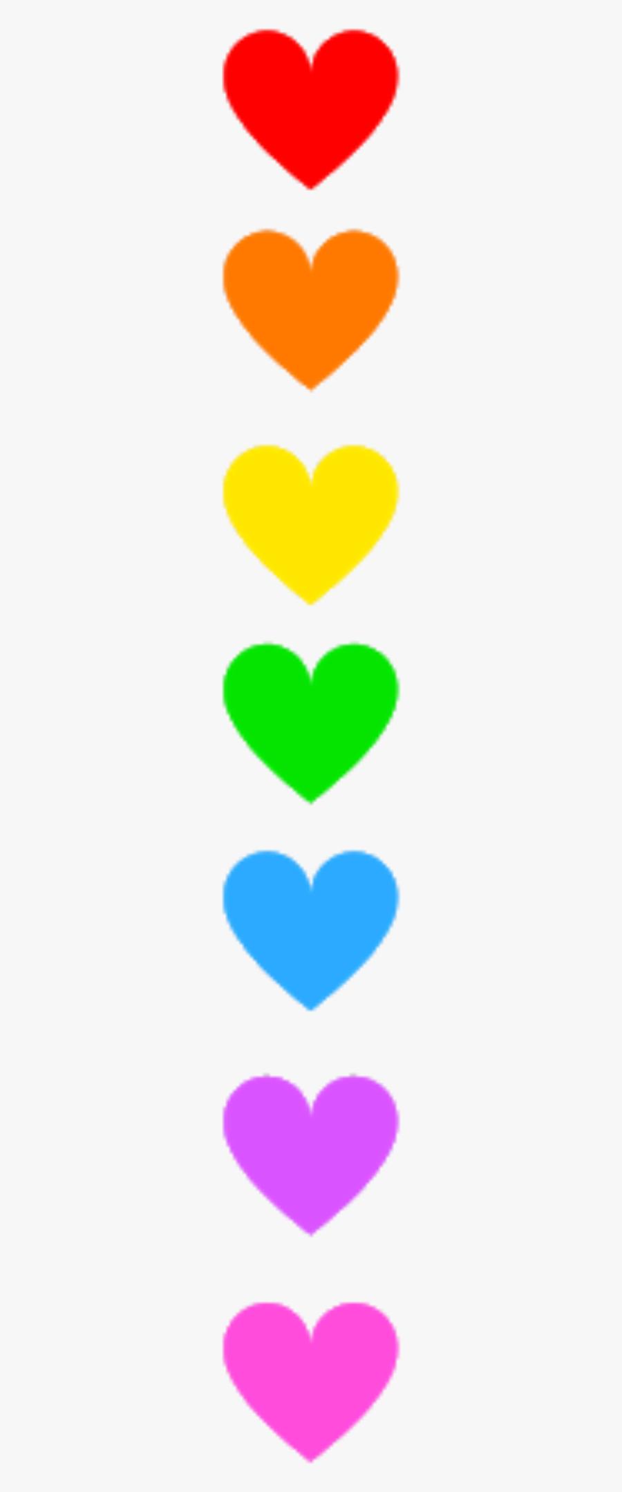 #hearts #colourful #rainbow #divider #header #textline - Heart, Transparent Clipart