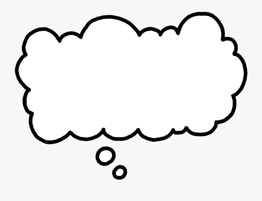 Clouds Clipart Thought Bubble - Transparent Thought Bubble Gif, Transparent Clipart