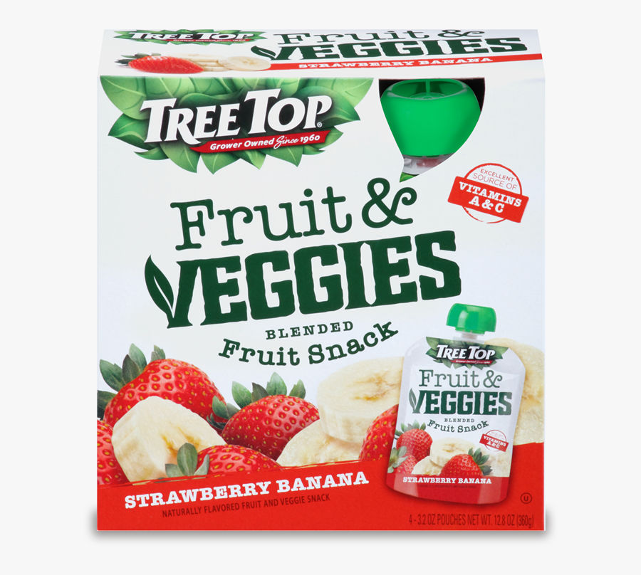 Tree Top Fruit And Veggies Fruit Snack - Strawberry, Transparent Clipart