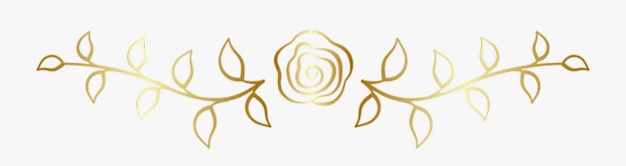 #rose #vines #leaves #flower #goldrose #divider #border - Floribunda, Transparent Clipart