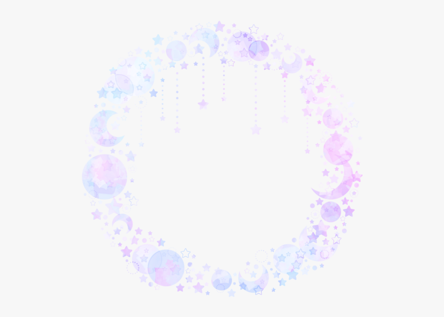 Aesthetic Circle Frame Overlay, Transparent Clipart