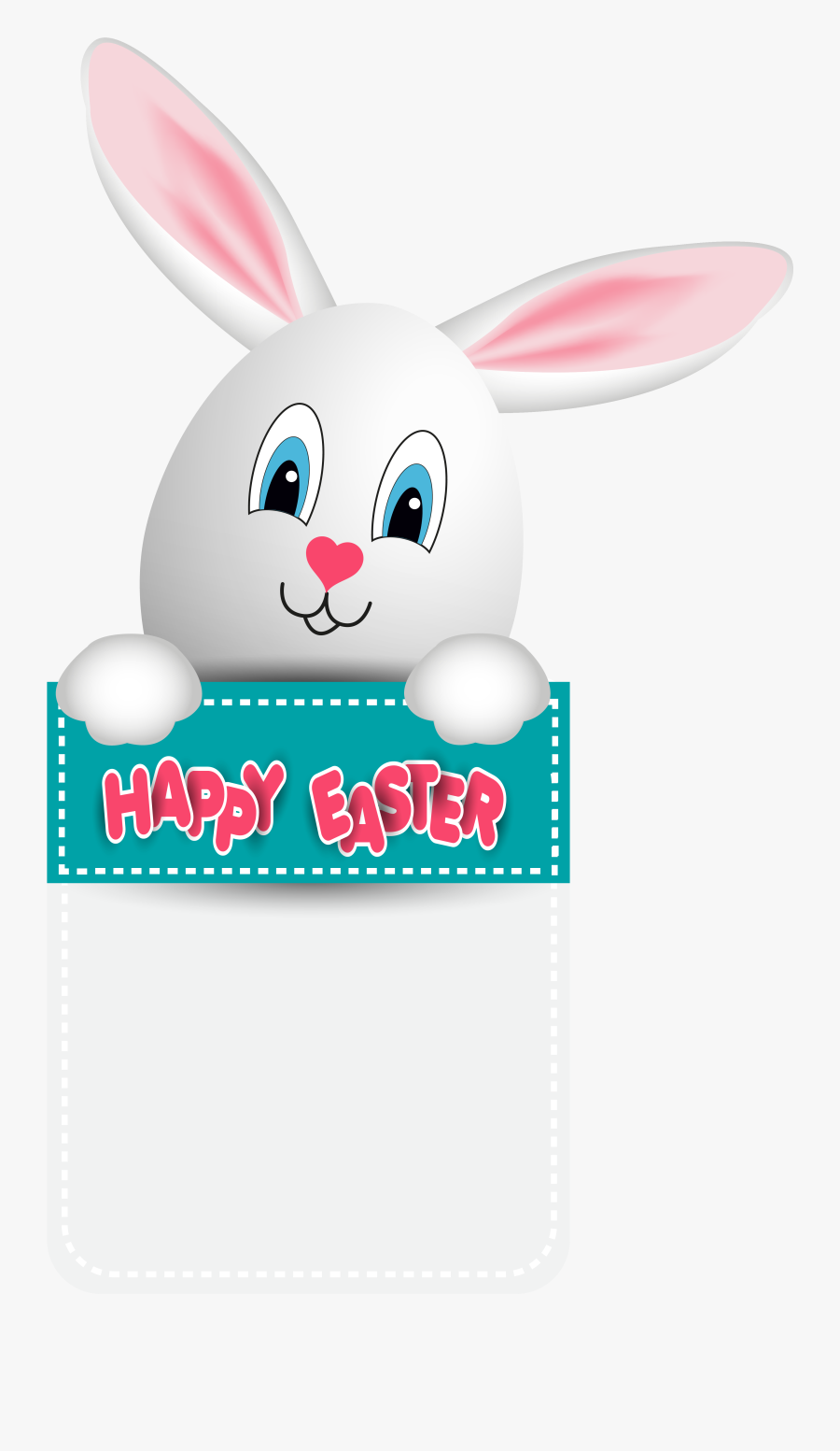 With Easter Bunny Egg Happy Hd Image Free Png Clipart - Happy Easter 2019 With Bunny, Transparent Clipart