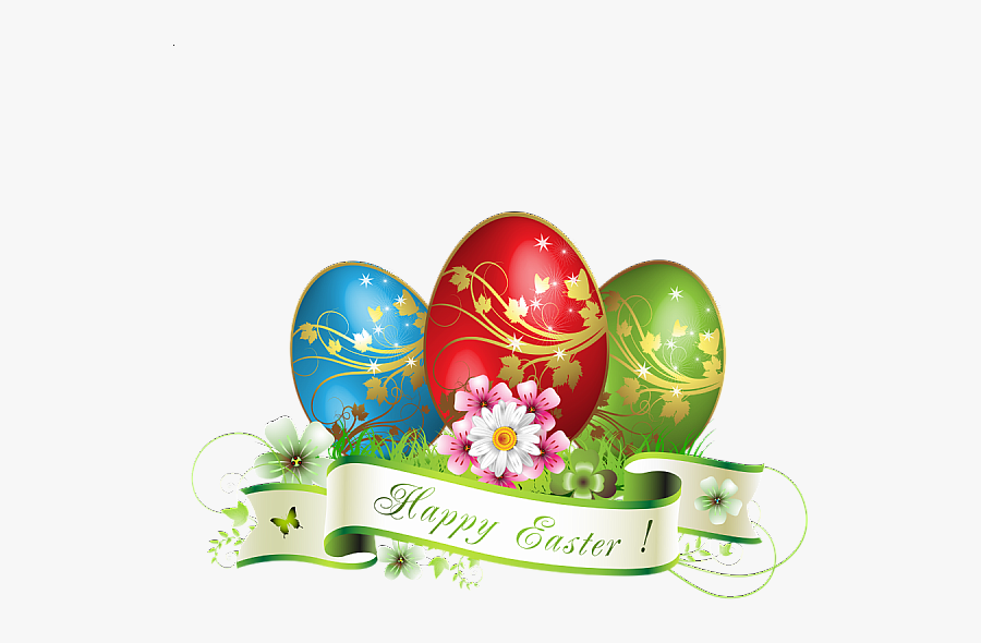 Happy Easter Eggs Png, Transparent Clipart