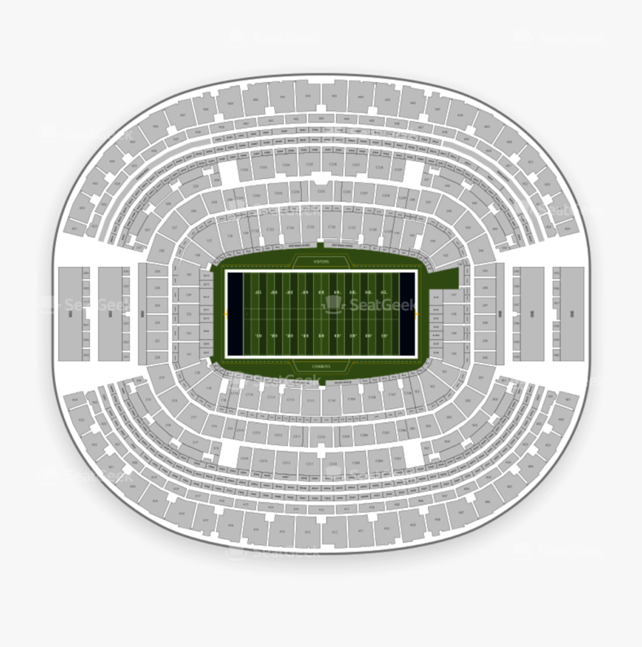 Seating Chart Map Seatgeek - At&t Stadium Section 419 ...