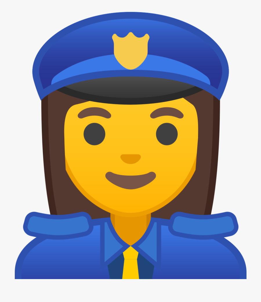 Officer Icon Noto Emoji - Officer Emoji, Transparent Clipart
