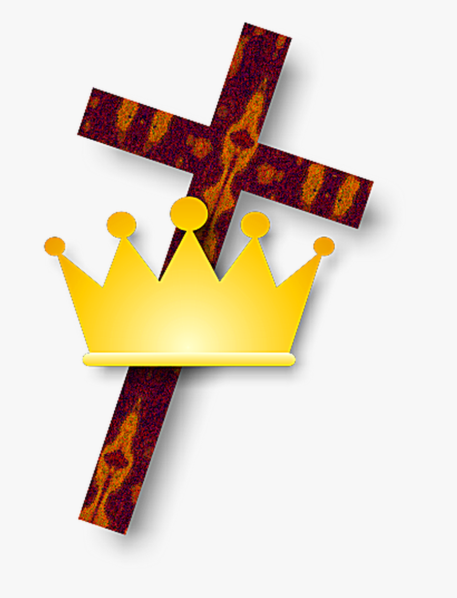 Christianity Cross And Crown, Transparent Clipart