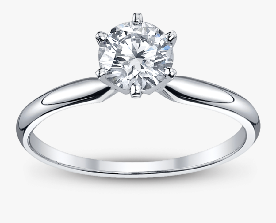 Magnificent Wedding Rings Png - Solitaire Diamond Ring 1 Carat, Transparent Clipart