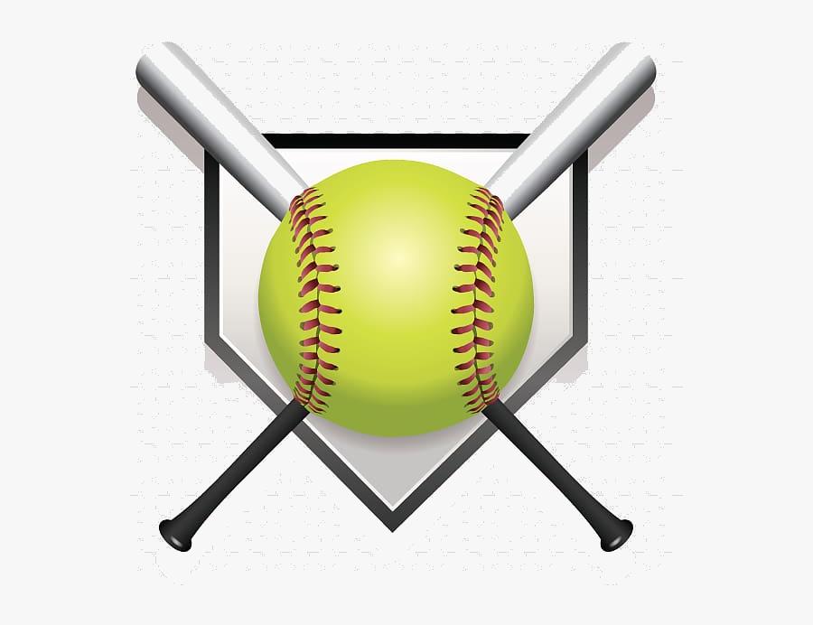 Softball Green Baseball Fastpitch Coach Hawkins Transparent - Drawing Of A Softball Bat, Transparent Clipart