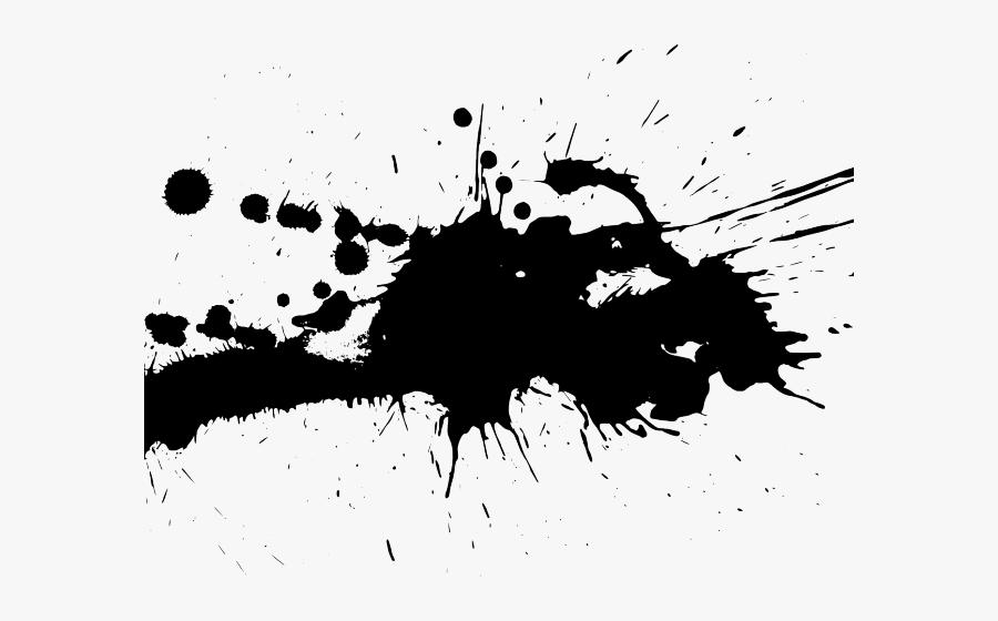 Transparent Background Black Paint Splatter, Transparent Clipart