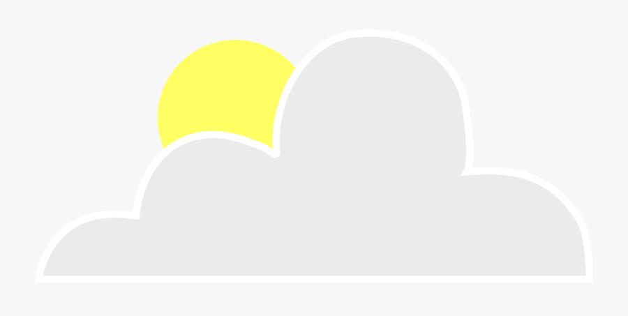 Sun Behind Cloud Clipart Vector Clip Art Online Royalty - Clip Art, Transparent Clipart