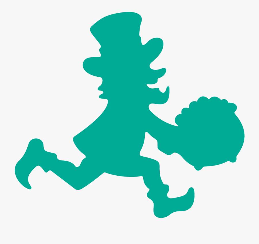 2017 Lucky Leprechaun 5k/10k & Little Leprechaun 1 - Running Leprechaun Silhouette, Transparent Clipart