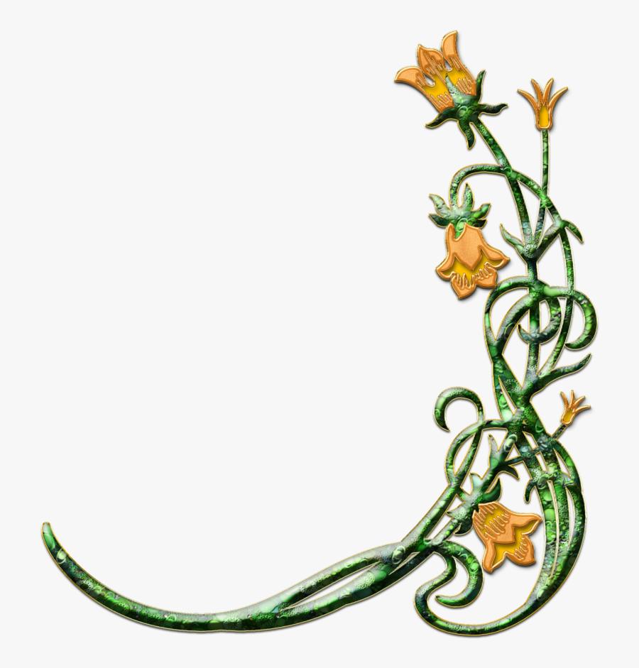 Flower Easter Religious Border Clipart - Flowers For Funeral Program, Transparent Clipart