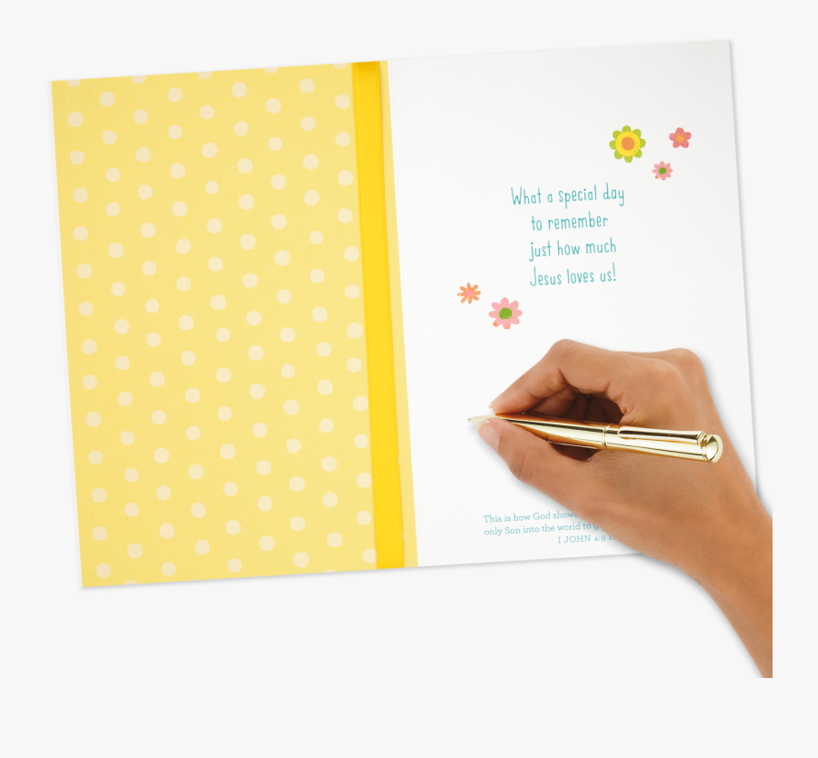 Baby Chicks Religious Easter Card - Paper, Transparent Clipart