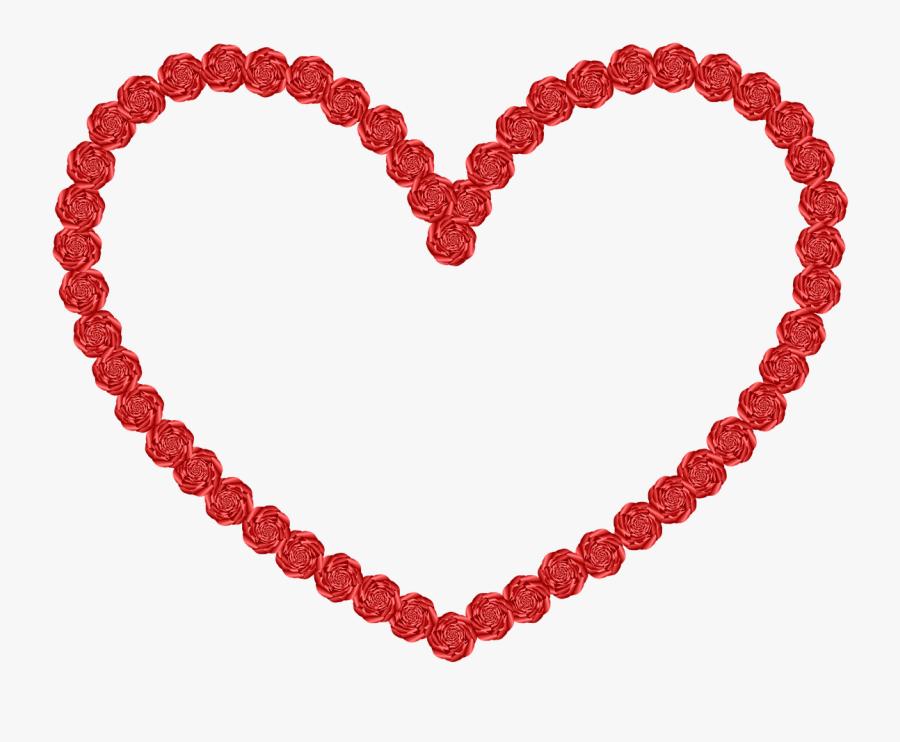 Wedding Heart Shape Rose - Heart Shape Hd Png, Transparent Clipart