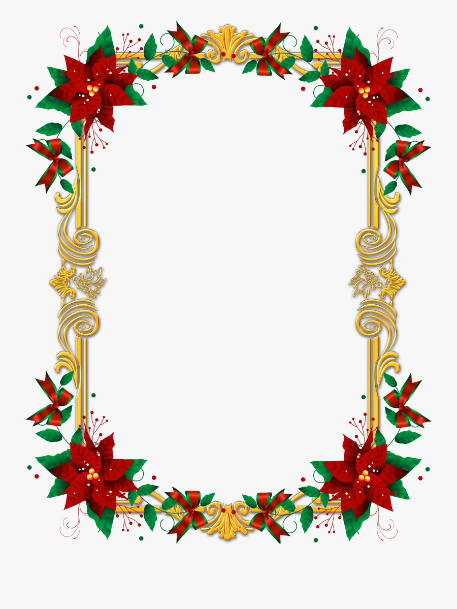 Borders And Frames For Christmas, Transparent Clipart