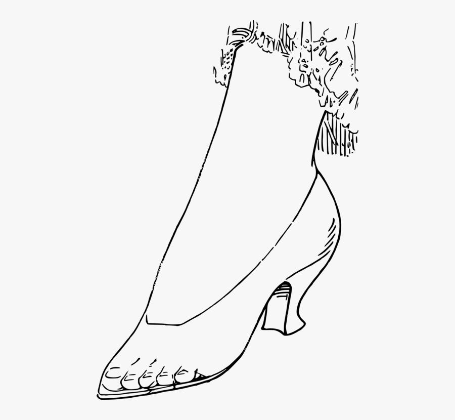 Art,monochrome Photography,shoe - High-heeled Shoe, Transparent Clipart