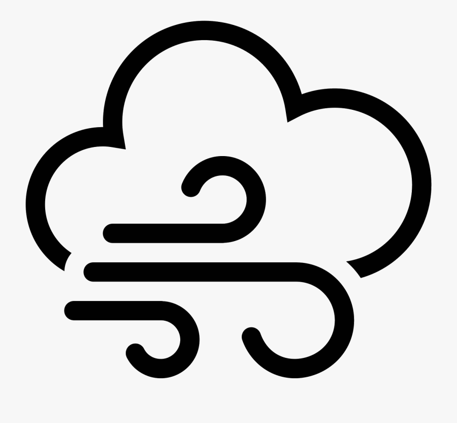 Windy Weather Icon, Transparent Clipart