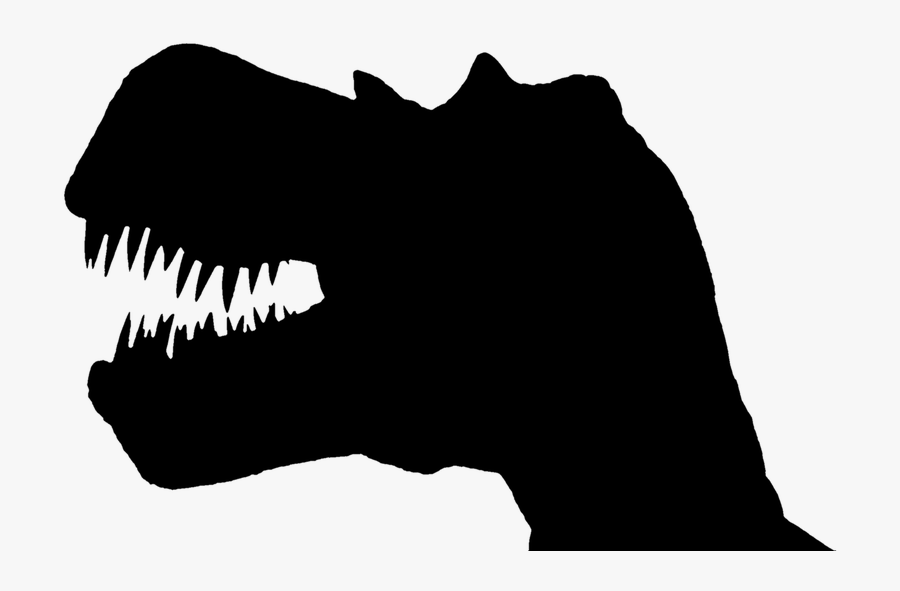 And - T Rex Head Silhouette, Transparent Clipart